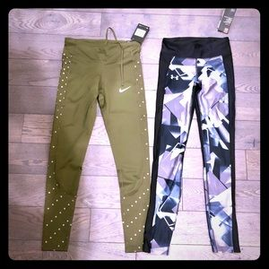 NWT Nike/Under Armour running pants